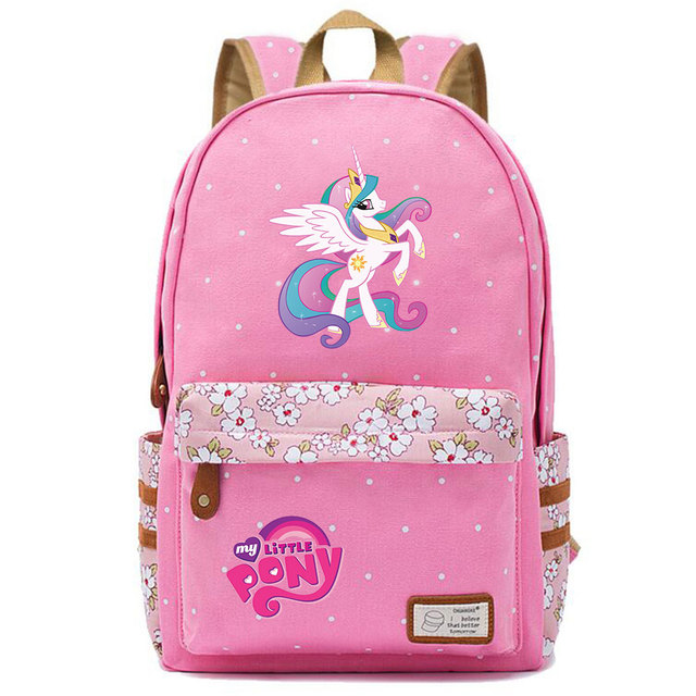 Rainbow Dash Pinkie Canvas Backpack