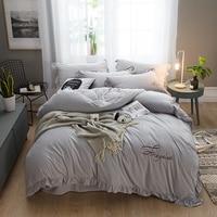2018 new Crystal velvet Bedding Set Soft Bedclothes Luxury Duvet/Quilt Cover Bed Linen sheet set 4 Pieces Bedding Sets