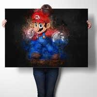 Super Mario Spiel Poster Wand Kunst Aufkleber Kunstdrucke Leinwand Tuch Poster Und Druck Wand Kunst Bild Malerei Wohnkultur