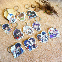 11pcs/set Anime Keychain CP Character Touken Ranbu Online Full Set Portachiavi Munechi Mikazuki Kashuu Souzasam Keyrings Pendant
