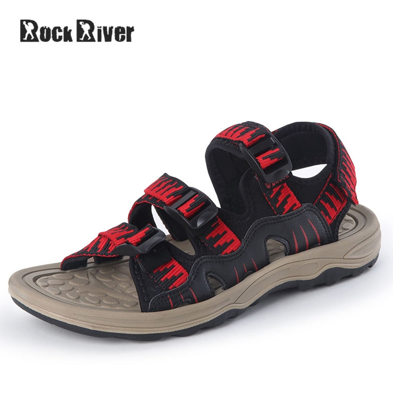 Leather Sandals Men 2018 Fashion Mens Sandals Summer Breathable Casual Beach Sandals Hook&loop Clogs Croks Sandalias