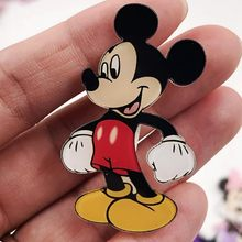 1Pcs Cute And Personity Mickey Brooches for Women Kids Lapel Pin Shoes Vest Decoration Badges Birthday Present(China)