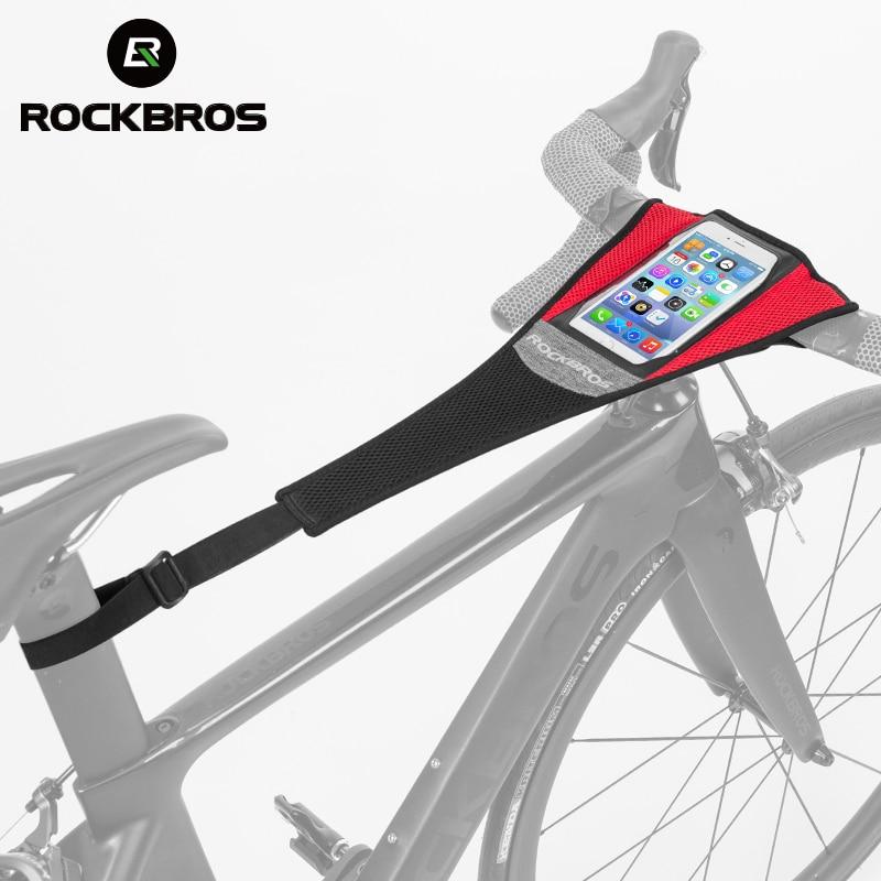 Spor ve Eğlence'ten Eğitmenler ve Silindirler'de ROCKBROS bisiklet bisiklet ter bandı bisiklet ter geçirmez eğitim bandı bisiklet eğitmeni ter Net çerçeve koruma bisiklet aksesuarları title=