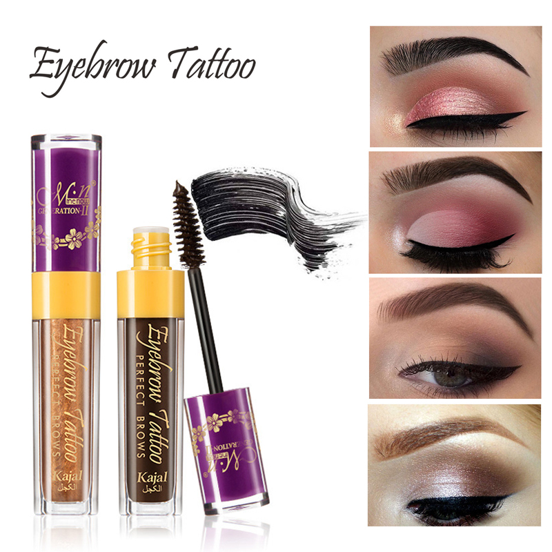 13adab0554dd MENOW Brand Waterproof Liquid Henna Eyebrow Dye Cream Longwear Black Brown  Color Brows Mascara Eyebrows Tattoo Tint Gel Makeup