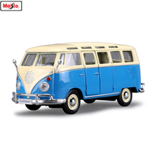 Maisto 1:24 Volkswagen bus simulation alloy car model crafts decoration collection toy tools gift maisto 1 24 1969 shelby 427 simulation alloy car model crafts decoration collection toy tools gift