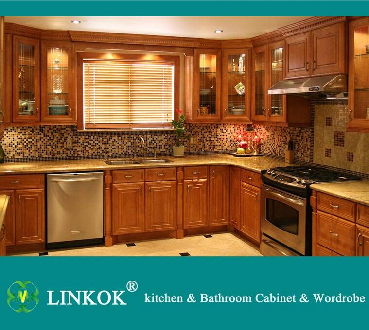 Us 1500 0 Linkok Furniture American Standard Modern Solid Wood Kitchen Cabinet With Baroque Cabinet On Aliexpress Com Alibaba Group