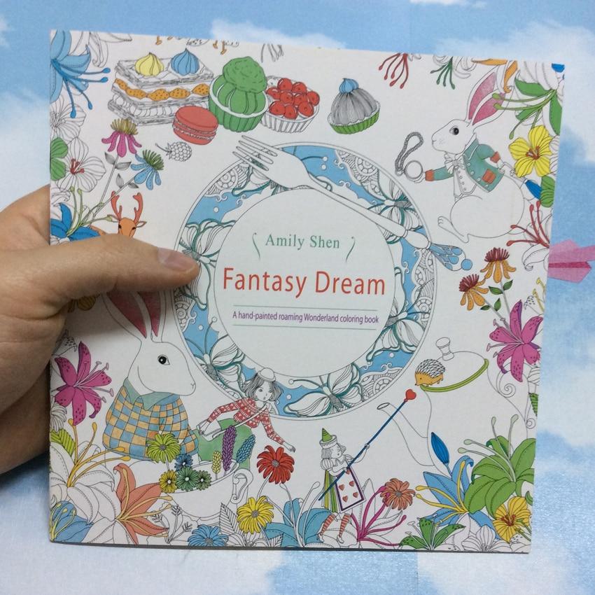 24 Paginas Serie De Fantasia Sonho Jardim Secreto Antistress Pintura Grafite Desenho Livro Arte