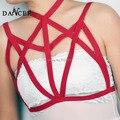Top moda arnés bondage lencería sexy cuerpo de la correa jaula trajes de cuerpo ajustable del partido del club del busto abierto franja jaula