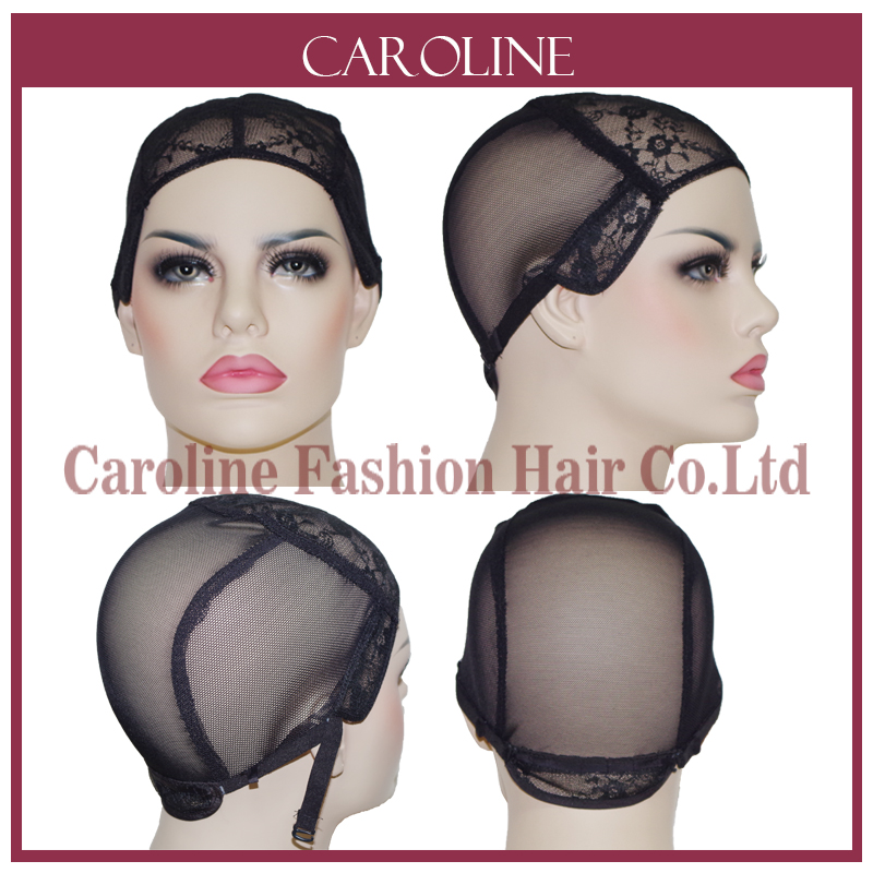 5pcs Wig Caps For Making Wigs With Adjule Strap Lace Front Weaving Cap Tools Hair