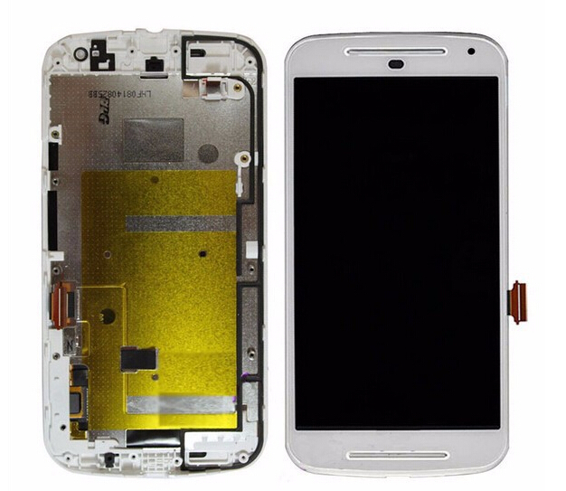 ФОТО Original White LCD Display Touch Screen Digitizer Assembly with Frame For Motorola MOTO G2 XT1063 XT1068 XT1069 replacement part