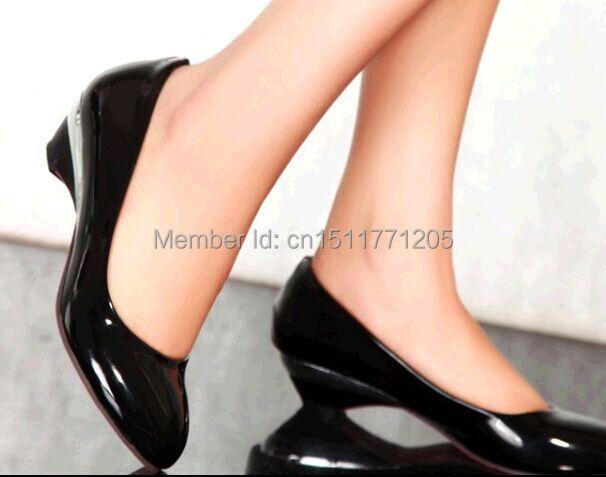 Plain plus size 40 - 48 women's low-heeled shoes small yards 32 33 single shoes work shoes wedges high quality pumps beurer ks 48 plain