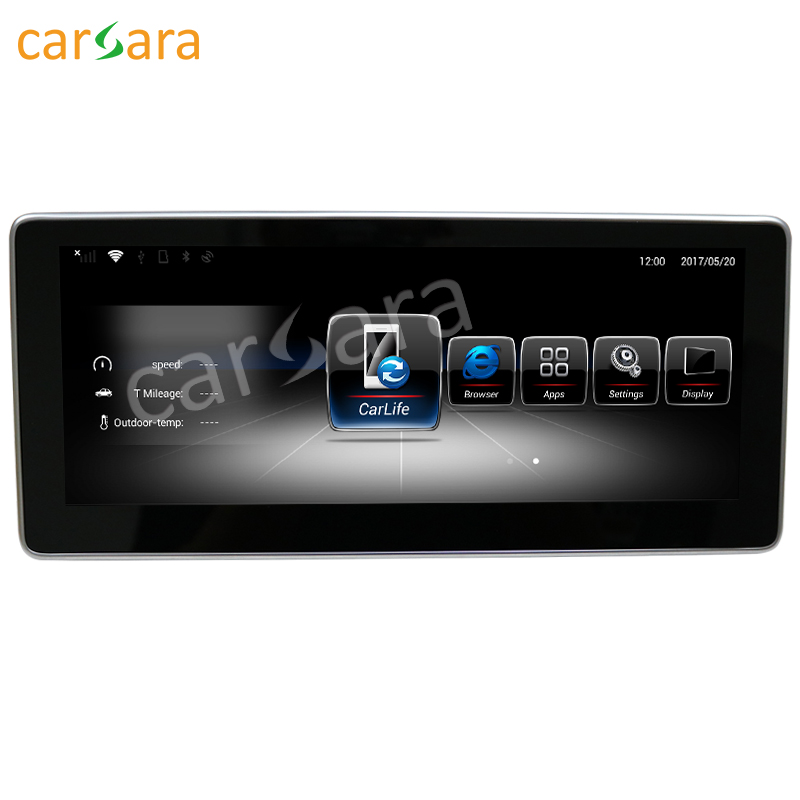 10.25 Android Navigation monitor for Benz GLK Class X204 350 2013 to 2015 GPS stereo touch screen multimedia player