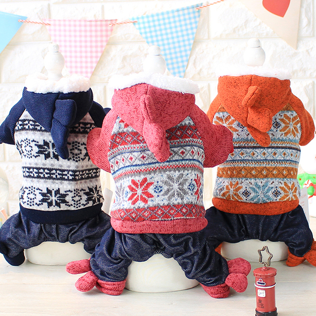 Kawaii Pet Shop Korean Style Dog Jumpsuits Rompers Pet Clothes Dog Sweaters Clothes for Dogs Couple Dog Clothes Hot Sale 16ZF67