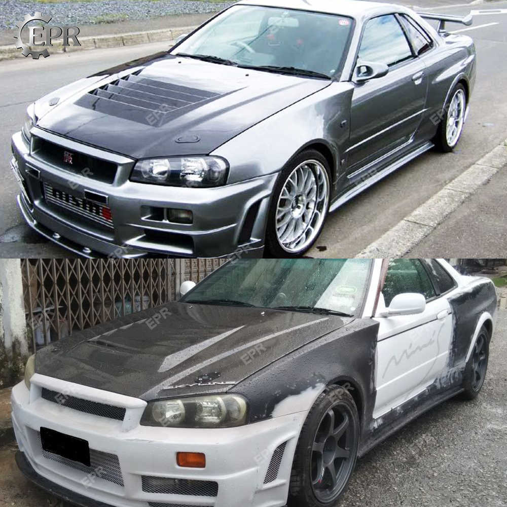 Detail Feedback Questions about For Nissan Skyline R34 GTT Carbon