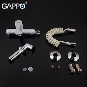 Image 5 - GAPPO Bidetก๊อกน้ำสีขาวห้องสุขาBidetฝักบัวอาบน้ำก๊อกน้ำมุสลิมฝักบัวห้องน้ำWall Mountก๊อกน้ำSprayer Bidet Tap Mixer