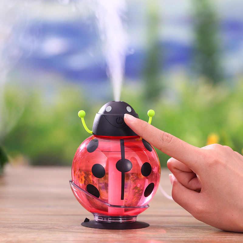 2540b06f9 ... Car air freshener Ladybug Ultrasonic Car Humidifier 5V Led Light USB  Portable Office Car Air Diffuser ...