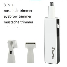 3 in 1 portable travel electric nose hair clipper eyebrow trimmer mustach beard shaver razor haircut machine cutter grooming kit 4 in 1 man grooming kit electric nose hair trimmer beard shaver razor styling clipper sideburn haircut shave body hair removal