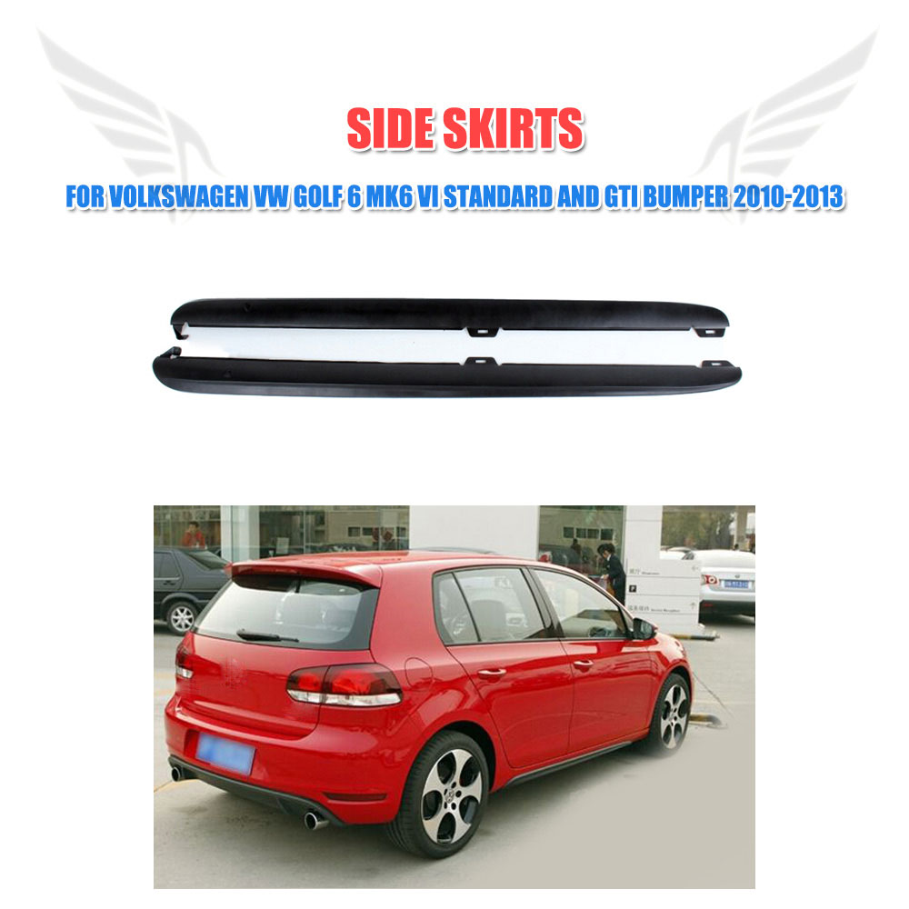все цены на PP / Carbon Fiber Car Side Skirts Aprons Body kits Fit for  Volkswagen VW Golf 6 MK6 VI Standard and GTI Bumper 2010-2013 онлайн