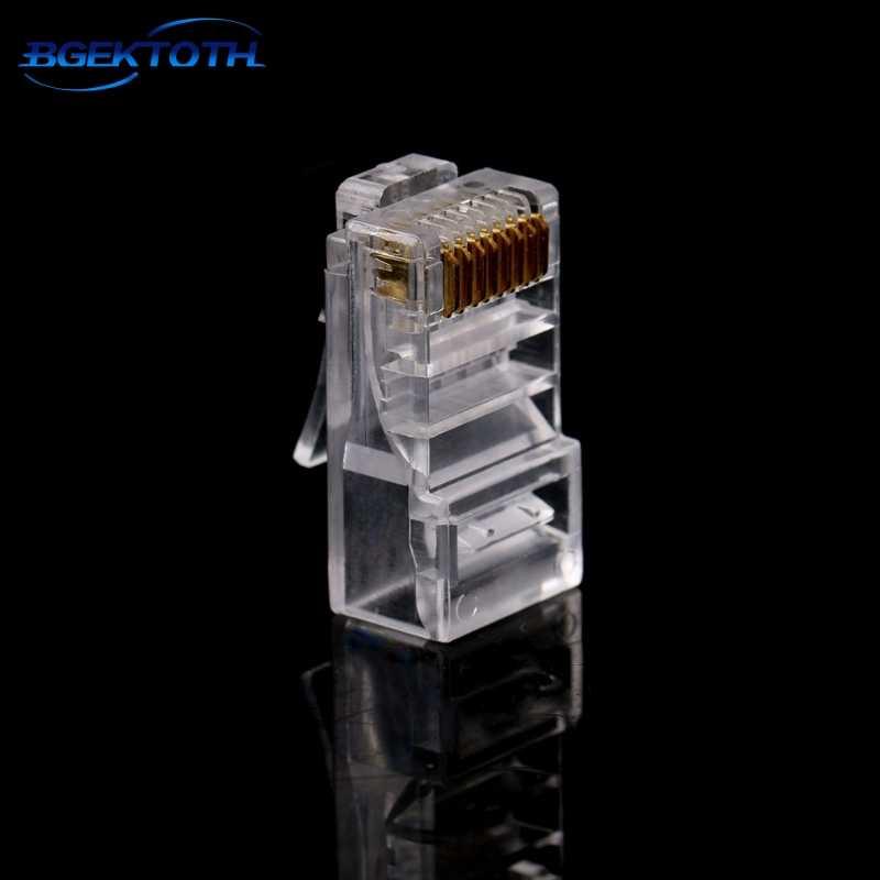 10 قطع 8-Pin مكشوف شبكة cat6 كابل إيثرنت الكريستال المقابس وحدات الشبكة سد الموصل قطعة واحدة MAR29