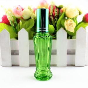 Image 4 - 10 ピース/ロット 15 ミリリットルカラフルなガラスの香水ボトル厚いミニ空の化粧品包装スプレーボトル詰め替えガラスバイアル