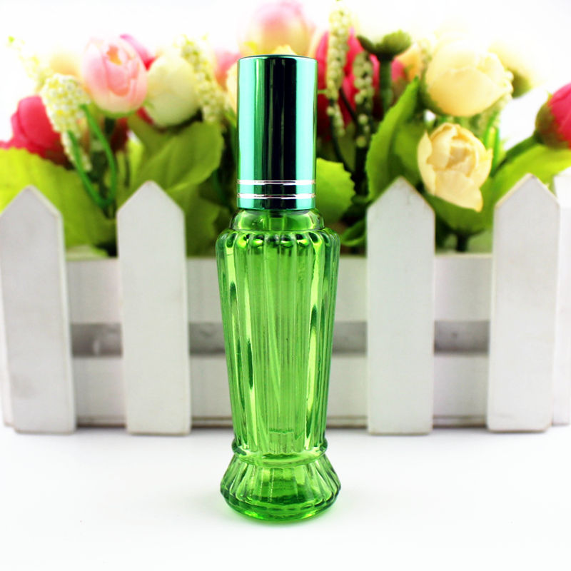 Image 4 - 10pcs/lot 15ml Colorful Glass Perfume Bottle Thick Mini Empty Fragrance Cosmetic Packaging Spray Bottle Refillable Glass VialsRefillable Bottles   -