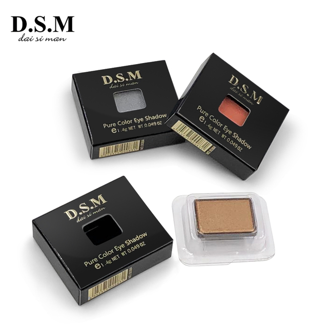 D.S.M Brand New DIY Eye Shadow Replaceable Combined 4 Perfect Shades Palettes Matte Glitter Colorful Makeup Eyeshadow Palettes 4