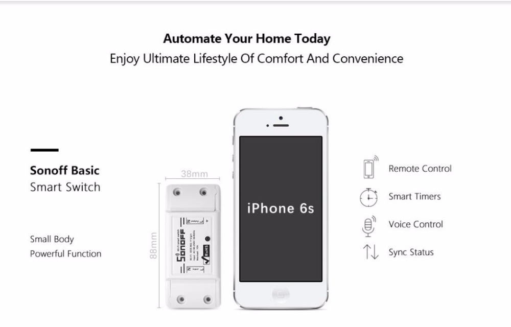 1 piece APP control Easy micro-remote wifi timer switch smart home modification compatible with alexa googlehome voice control