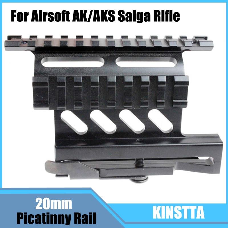 KINSTTA Sgancio Rapido Lato Laser Scope Sight Monte W/Dual 1913 Picatinny Guida Da Airsoft AK/AKS Saiga fucile