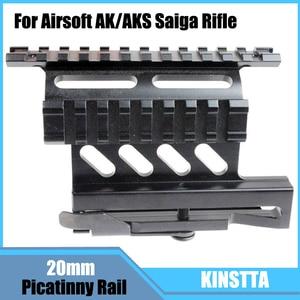 Mira telescópica láser lateral de liberación rápida KINSTTA con carril Picatinny Dual 1913 para Rifle Airsoft AK/AKS Saiga