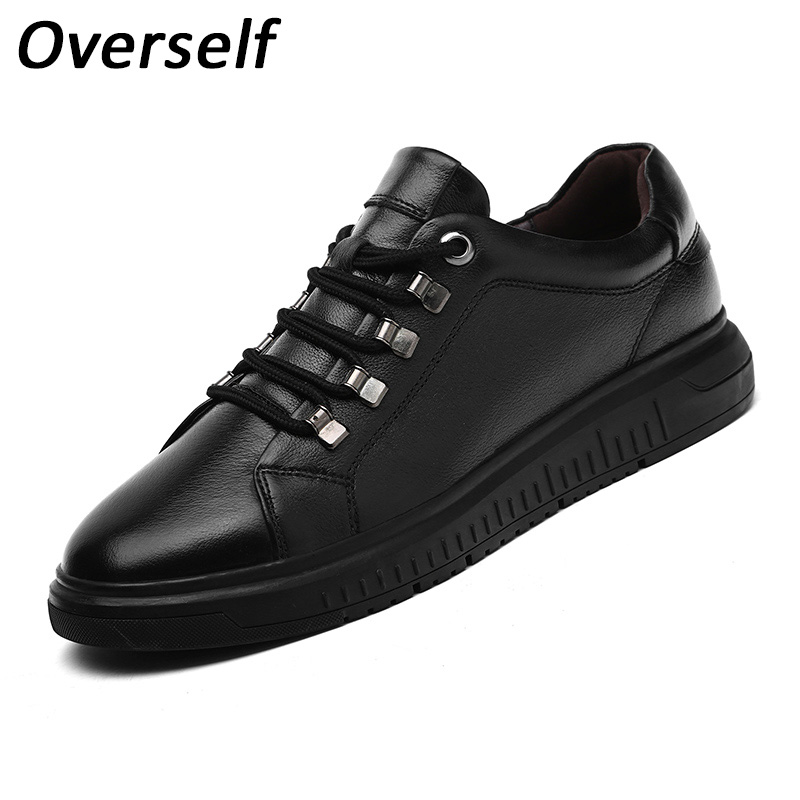 New Winter Handmade Leather Black Shoes Casual Men Shoes Fashion Man Flats Moccasin Luxury Brand Comfortable Plus Big size Shoes 2017 new spring imported leather men s shoes white eather shoes breathable sneaker fashion men casual shoes