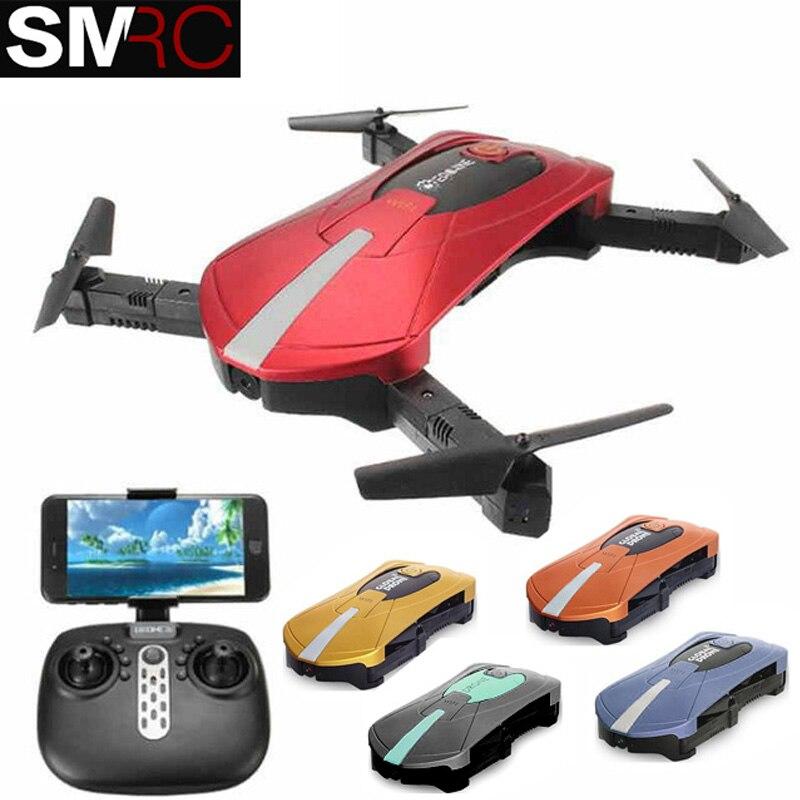 JY018 ELFIE WiFi FPV Quadcopter Mini Pieghevole Selfie Drone RC Droni con 2MP Macchina Fotografica HD FPV Professionale H37 720 p RC Helicopte