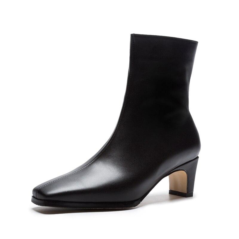 brown Scarpe Mucca Tacco Pelle Zip Con Modo Della Formato Stivali Sottile  Nuove Caviglia In Grande black 34 Signora Di Enmayla Quadrata Zyl1108 Donne  ... 9e1aed4ef49