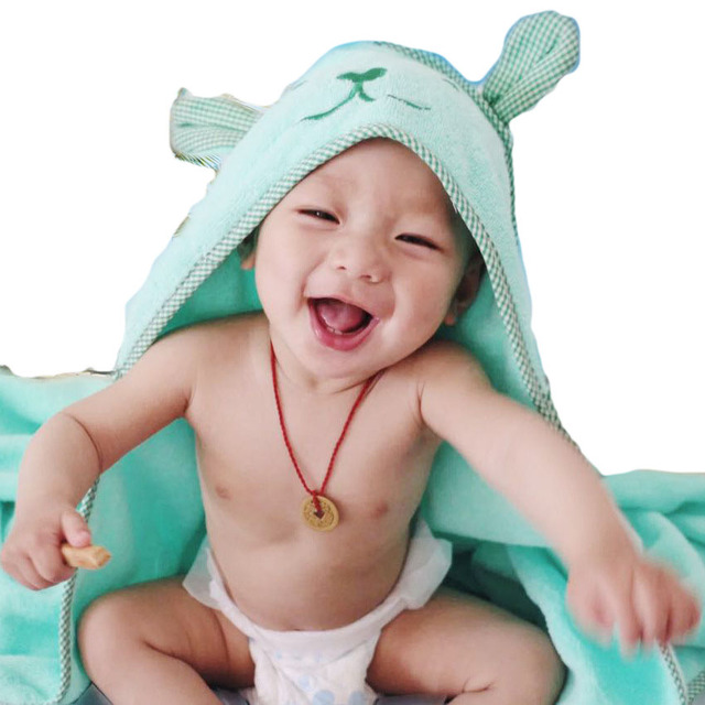 Comfortable Soft Baby Hooded Bathrobe Uni Essential