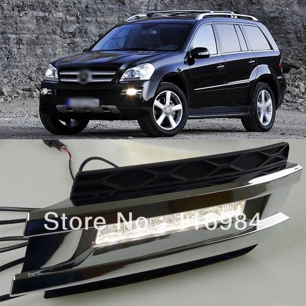 1 компл. оригинальный Размер замена противотуманной фары дневного света DRL для Benz w164 Мерседес GL320 350 420