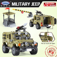 XingBao ww2 army series military jeep building blocks compatible Legoe Lepini blocks military educational toys for children