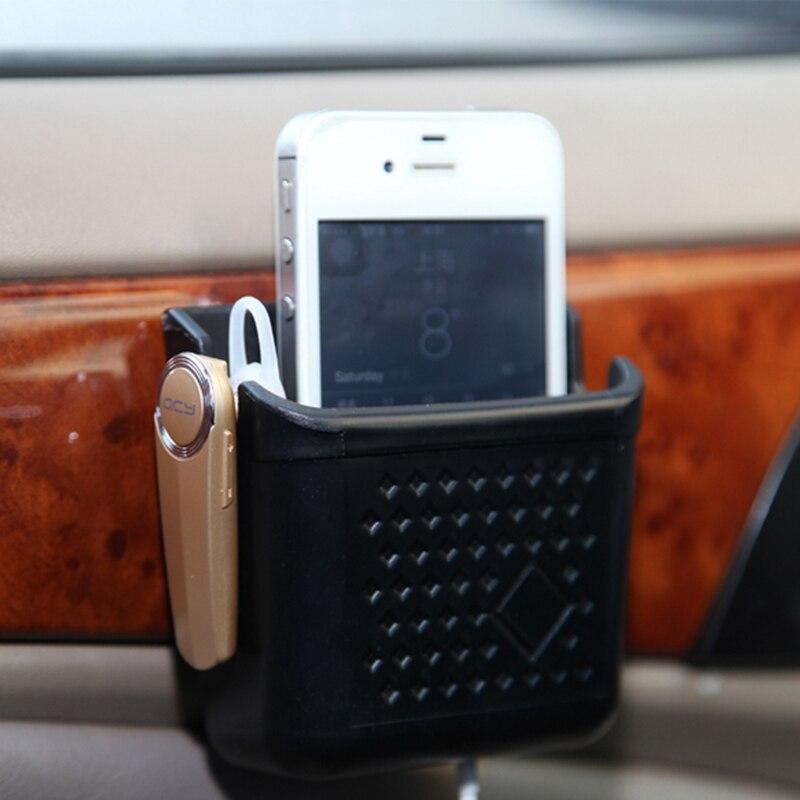 Mini Auto Storage Box Organizer Car Cell Phone Holder Black Free Shipping E#A3 mobile phone