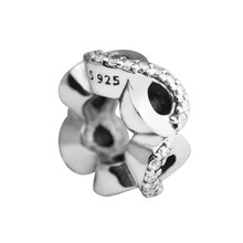 Genuine Infinite Love Spacer Beads DIY Fits Bracelet Charms 100% 925 Sterling-Silver-Jewelry Silver Beads for Women(China)