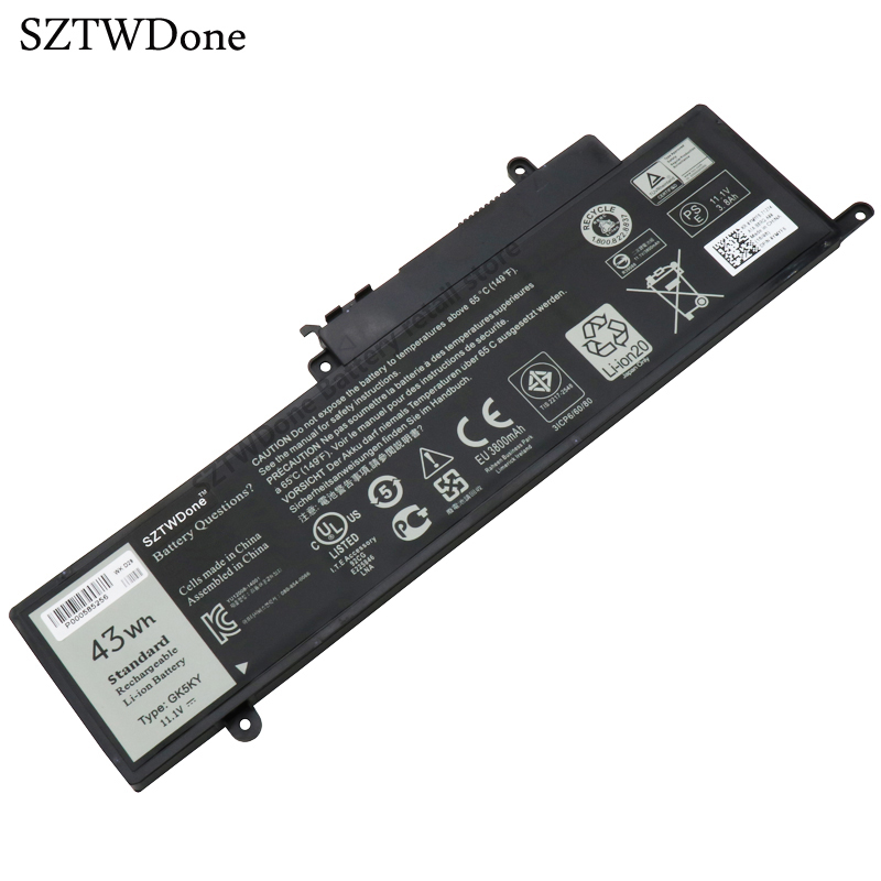 где купить  SZTWDone Original GK5KY Laptop Battery for DELL Inspiron 13 7347 11 3147 04K8YH 31NP6/60/80 11.1v 43WH  дешево