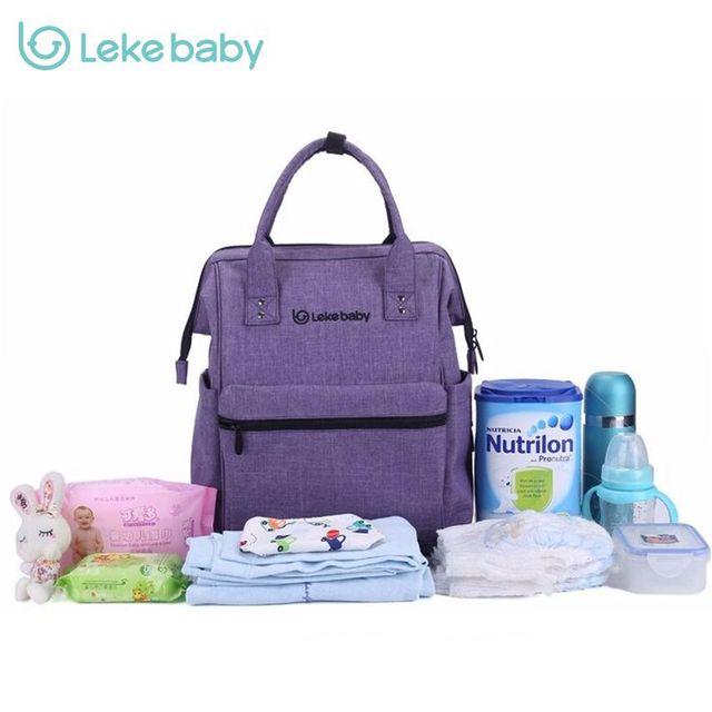 Marca Bolsa de Bebé Bolsas de Pañales de Moda Gran Bolsa de Pañales Mochila Organizador Bolsas De Maternidad Para La Madre Del Bebé Bolso Del Panal Del Bebé Mochila