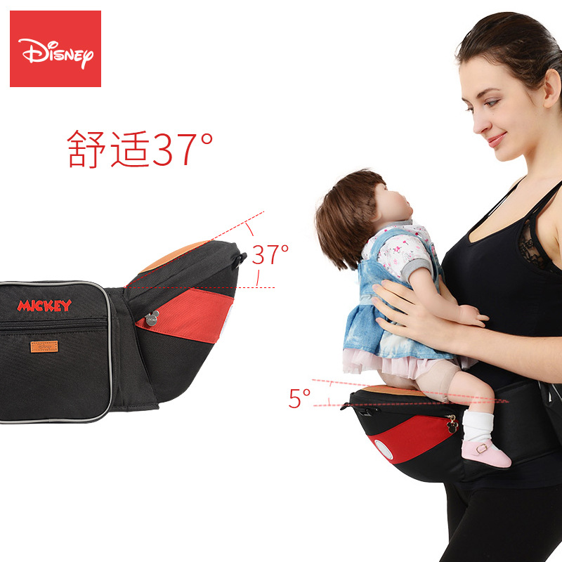 Disney Baby Carrier Waist Stool Mickey Walkers Toddler Sling Hold Waist Belt Backpack Infant Minnie Hip