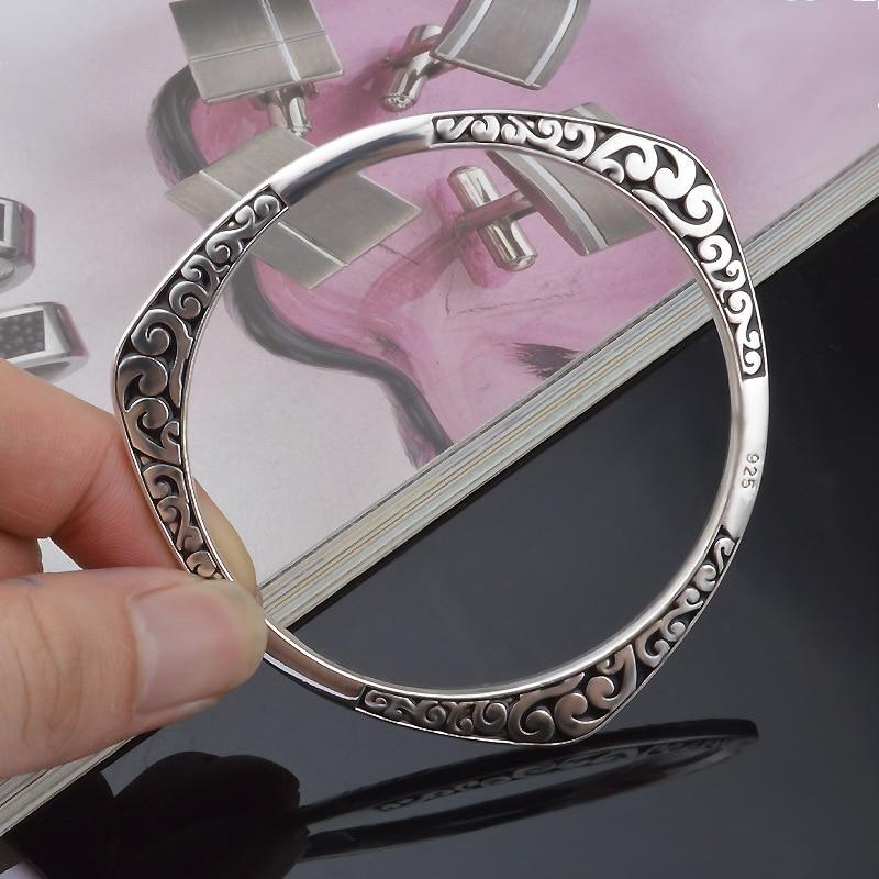 New Arrival 925 Antique Silver Tibetan Bracelets Women Cuff Bracelet Bangle Hot Sale luxury925 Jewelry free shipping vintage carved metal tibetan silver cuff bracelet bangle for women