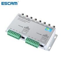4ch 8ch hd cvi/tvi/ahd transceptor passivo 8 canais vídeo balun adaptador transmissor bnc para utp cat5/5e/6 cabo 720p 1080p
