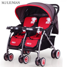 Portable Baby Twins Mutiple Stroller 2 in 1 Combo Infant Trolley Safety Foldable Newborns Cradle Multifunction Sit Lie strollers цена в Москве и Питере