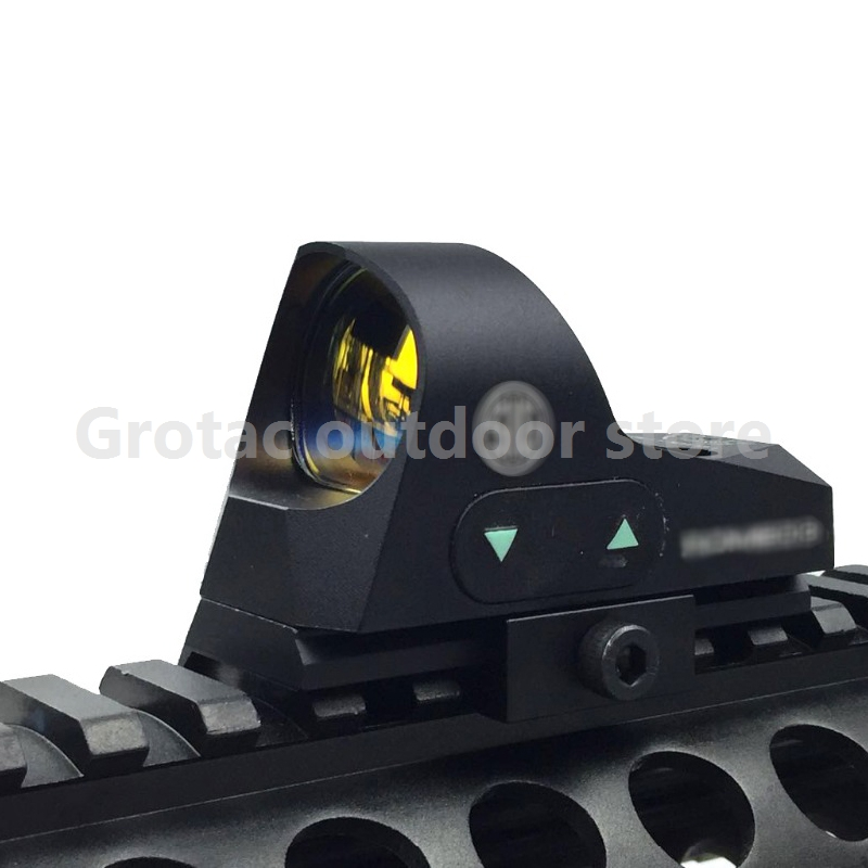 Tactical optic 1x25 Mini Reflex Sight 3 MOA Dot Reticle Red Dot Sight Scope Picatinny QD Mount for 20mm Rifles mini rmr style 1x red dot sight scope for picatinny rail and glock base mount key switch 6 moa black m6293