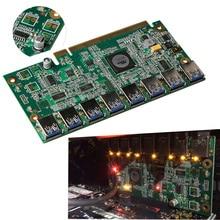 Płyta główna Karta PCI-E x16 Riser PCI Express 1 do 8 Wydobycie danych SATA do 8Pin Adapter Karta Grafiki dla BTC Górnik Maszyna pokładzie