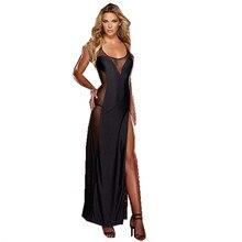 Plus Size S M L XL 2XL 3XL 4XL 5XL 6XL Lace UP Preto Sem Encosto Vestido de Noite Vestido de Lingerie Sleepwear Chemise