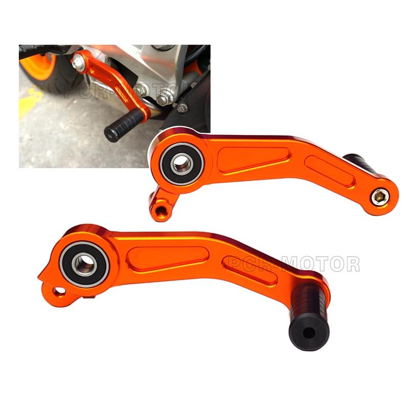 Prix pour Orange haute qualité moto cnc frein embrayage pédale de vitesse levier pour KTM DUKE 125 200 390 2013 2014 2015 Dirt vélo