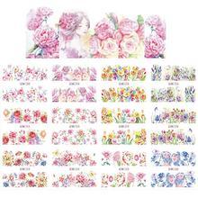 Наклейка с цветущим цветком и акварелью слайдер пружинными цветами