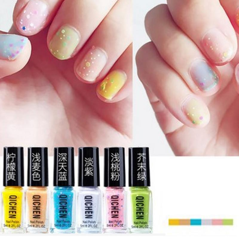 6pcs Set Non Toxic Nail Polish Korean Color Art 30ml Long Lasting Suit Aliexpress Mobile
