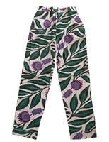 Fashion African Ankara Print Women Fitted Pant With Pockets Festival Clothes Boho Batik Unique Vintage Pants